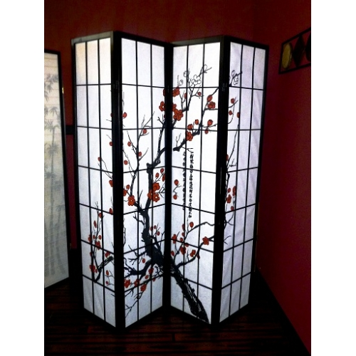 4 Panel Asian Style Room Dividers - 4 Panel Asian Style Room Dividers Brody Massage