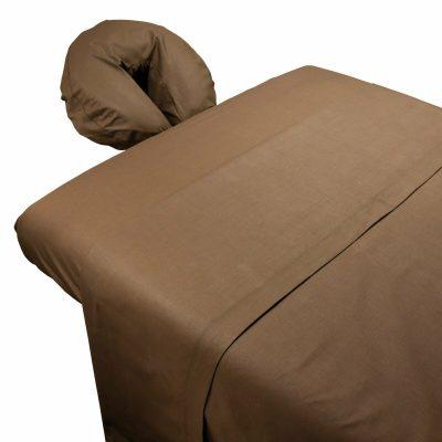 Massage Sheets - 3 Piece Set Poly Cotton Chocolate