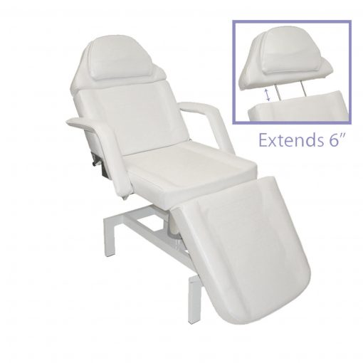 White Hydraulic Facial Table