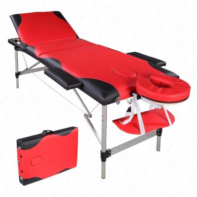 Red Aluminum Portable Massage Table