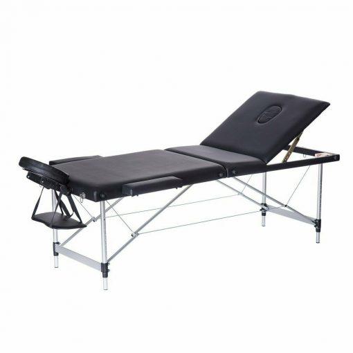 Black Aluminum Portable Massage Table
