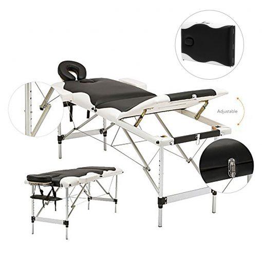 White & Black Portable Aluminum Massage Table 1