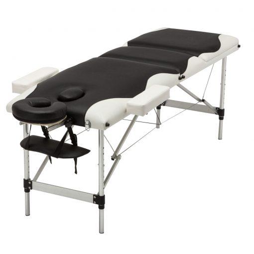 White & Black Portable Aluminum Massage Table
