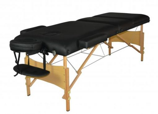 Black Portable Massage Table with Incline