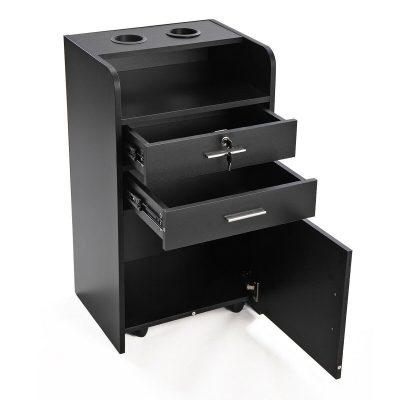 Black Salon Storage Cart