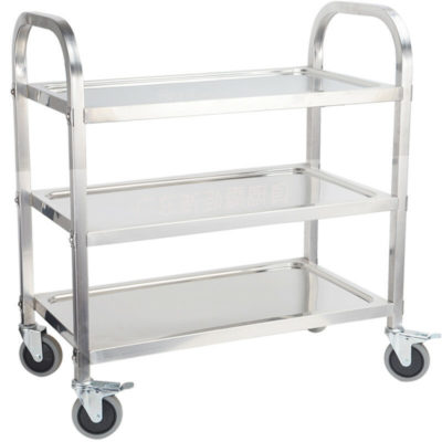 Metal Tray Trolly Salon Cart