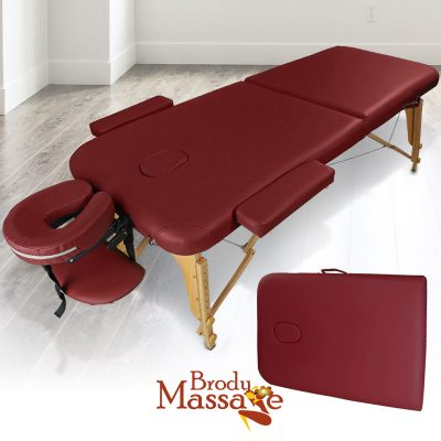 Red Wood Massage Table